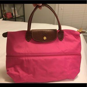 Longchamp two tone, expandable purse
